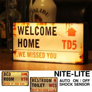 LED NITE-LITE London センサーライト(インテリアライト ストリートサイン ナイトライト)|fci