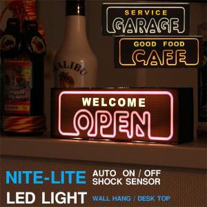 LED NITE-LITE NEON センサーライト(インテリアライト ネオンサイン ナイトライト)|fci