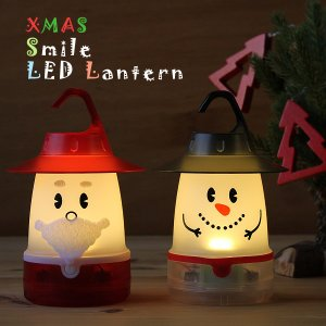 クリスマス スマイル LED ランタン(ランプ サンタクロー...