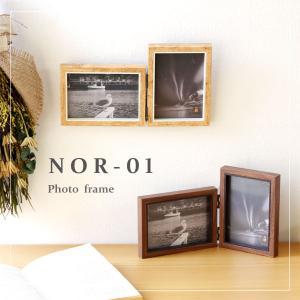 フォトフレーム NOR-01(写真立て フォトフレーム 折りたたみ シンプル ナチュラル ウッド調 ...
