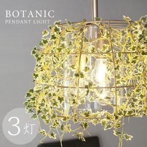 ボタニック ペンダントライト 3灯(キシマ アイアンシェード アンティーク風 ナチュラル LED電球対応)|fci