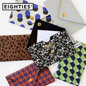EIGHTIES エイティズ カードケース(カード入れ 名刺入れ フラット レディース メンズ レトロ 千鳥格子 ドット)|fci