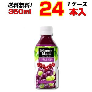 商品名:ミニッツメイドカシス&グレープ 350mlPET  数量: 24本  内容量: 35...
