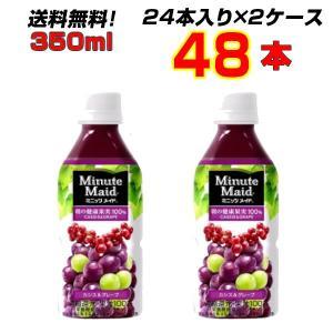 商品名:ミニッツメイドカシス&グレープ 350mlPET  数量: 48本【24本×2ケース...