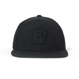 FD 黒ロゴ 黒/黒 キャップ|fdj