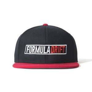 FORMULA DRIFT 黒/赤 キャップ|fdj