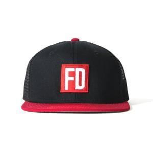 FD 黒/赤 メッシュ・キャップ|fdj