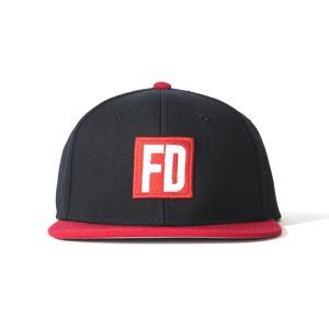 FD 黒/赤 キャップ|fdj