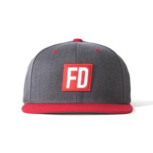 FD グレイ/赤 キャップ|fdj