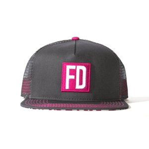FD グレイ/ピンク メッシュ・キャップ|fdj
