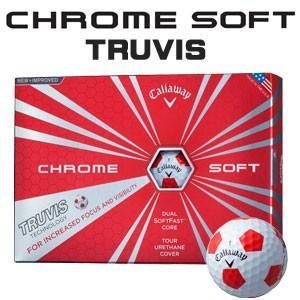 キャロウェイ CHROME SOFT(クロム ソフト) TRUVIS(トゥルービズ) ≪WHITE/RED≫ ボール (12球) 【数量限定品】|feap