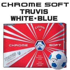 キャロウェイ CHROME SOFT(クロム ソフト) TRUVIS(トゥルービズ) ≪WHITE/BLUE≫ ボール (12球) 【数量限定品】|feap