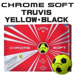 キャロウェイ CHROME SOFT(クロム ソフト) TRUVIS(トゥルービズ) ≪YELLOE/BLACK≫ ボール (12球) 【数量限定品】|feap