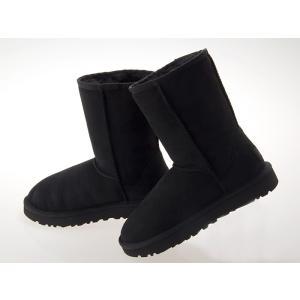 [アグ] UGG AUSTRALIA WOMENS CLASSIC SHORT II BOOTS ウィメンズ クラシック ショート 2 ブーツ レディース シープスキン BLACK #1016223-blk|fedes