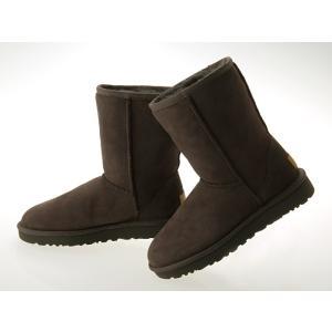 [アグ]UGG AUSTRALIA WOMENS CLASSIC SHORT II BOOTS ウィメンズ クラシック ショート 2 ブーツ レディース ムートンブーツ シープスキン CHOCOLATE#1016223-cho|fedes
