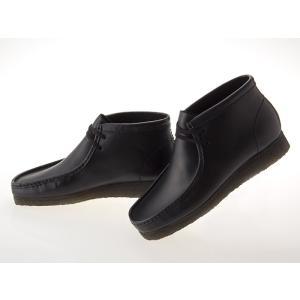[クラークス] CLARKS WALLABEE BOOT ワラビー ブーツ BLACK LEATHER ブラック レザー 黒 #26103666 fedes