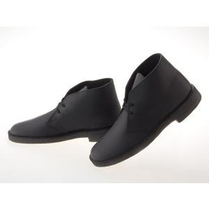 [クラークス] CLARKS DESERT BOOTS デザートブーツ BLACK SMOOTH LEATHER ブラック スムースレザー 黒 #26103683 fedes