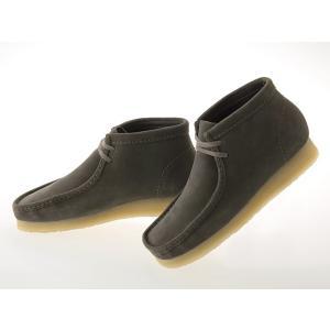 [クラークス] CLARKS WALLABEE BOOT ワラビー ブーツ GREY SUEDE グレー スエード #26128323 fedes