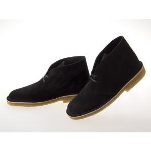 [クラークス] CLARKS DESERT BOOTS デザートブーツ BLACK SUEDE MADE IN ITALY ブラック スエード イタリア製 黒 ブラック #26128537 fedes