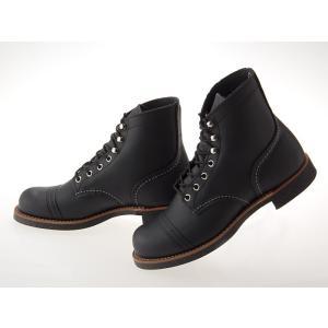 [レッドウィング] RED WING 6INCH IRON RANGE BOOTS 6インチ アイアンレンジ ブーツ BLACK HARNESS ブラック 黒 「ハーネス」 ワイズD #8114 fedes