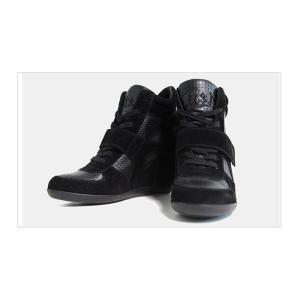 ≪メーカー取り寄せ商品≫ [アッシュ] ASH BOWIE WEDGE SNEAKER ボウイ ウェッジ インヒール スニーカー BLACK/BLACK #93681-001|fedes
