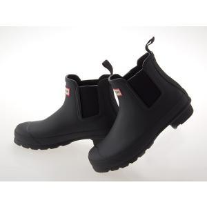 ≪即日発送可能商品≫ [ハンター] HUNTER ハンター ウィメンズ オリジナル チェルシー ショートブーツ サイドゴア 長靴 BLACK 黒 ブラック #WFS1043RMA-BLK