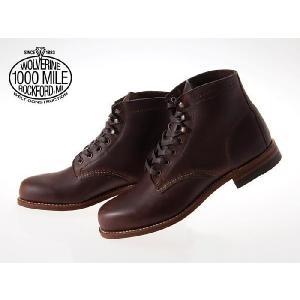 WOLVERINE 1000 MILE BOOT PLAIN TOE 1000マイル ブーツ プレーン トゥ BROWN #W05301