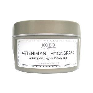 コボ[KOBO]ピュアソイキャンドルボタニカルアルテミシアンレモングラス113g|feel