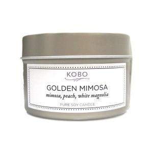 コボ[KOBO]ピュアソイキャンドルボタニカルゴールデンミモザ113g|feel