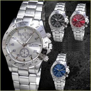 腕時計 メンズ メタルバンド クロノグラフデザイン 合金 ウォッチ クォーツ 生活防水 ファッション