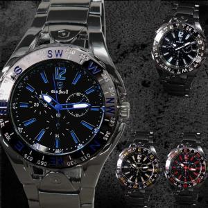 腕時計 メンズ メタルバンド クロノグラフ調デザイン ブラック 合金 ウォッチ クォーツ 生活防水 ファッション