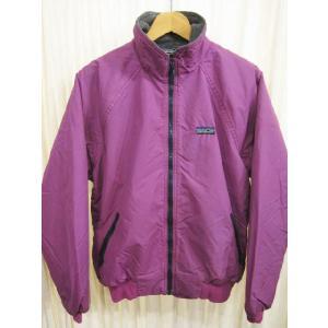中古80's USA製 patagoniaパタゴニア ナイロン×フリースシェルジャケット 紫×グレー 11/12古着 mellow|feeling-mellow