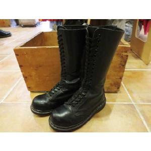 中古レディース 小さめサイズ Dr.Martens/ドクターマーチン 20ホール レザーロングブーツ 黒 ENGLAND製サイズ:3 21.5cm〜22cm古着 mellow|feeling-mellow