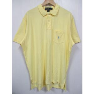 Polo by Ralph Lauren/ラルフローレン ワンポイント刺繍 半袖 鹿の子 ポロシャツ イエロー|feeling-mellow