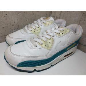Women's Nike Air Max 90 White Tropical Teal /ナイキ エアマックス 90 スニーカー 白×ターコイズブルー系  Women's US 8|feeling-mellow