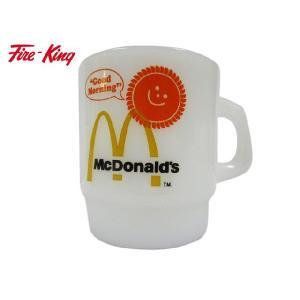 FIRE-KING ファイヤーキング マクドナルド Good Morning アドバタイジングマグ Made in U.S.A|feeling-mellow