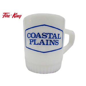 FIRE-KING ファイヤーキング COASTAL PLAINS リブボトム スタッキングマグ Made in U.S.A|feeling-mellow
