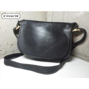 【中古】COACH/コーチ 本革 レザー ショルダーバッグ 黒 No.H1P-9951【COACHクラシック】【OLD COACH】【オールドコーチ】|feeling-mellow