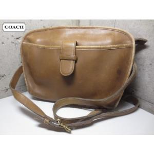 COACH/コーチ 本革 レザー ショルダーバッグ 茶系 No 016-5111 Made in U.S.A 【COACHクラシック】【OLD COACH/オールドコーチ】【中古】|feeling-mellow