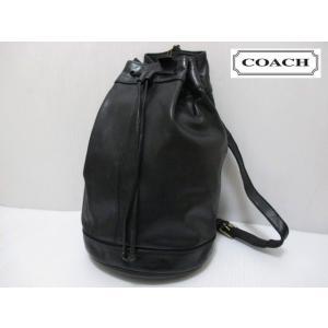 COACH/コーチ 本革 レザー 巾着型 ショルダー バッグ ブラック No 0961-025 feeling-mellow