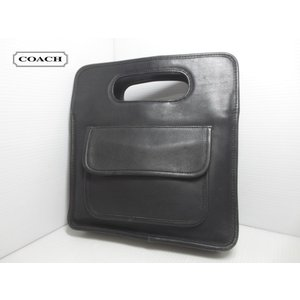 COACH/コーチ 本革 レザー ハンドバッグ ブラック No 002-7162 Made in U.S.A【COACHクラシック】【OLD COACH】【オールドコーチ】【中古】 feeling-mellow