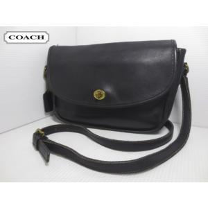 COACH/コーチ 本革 レザー ショルダー バッグ ブラック No G8C-9790 【OLD COACH/オールドコーチ】【中古】 feeling-mellow