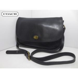 CCOACH/コーチ 本革 レザー ショルダー バッグ ブラック No H13-9790 【OLD COACH/オールドコーチ】【中古】|feeling-mellow