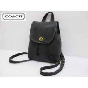 COACH/コーチ 本革 レザー ミニ リュックサック バッグ ブラック No D6C 9960|feeling-mellow