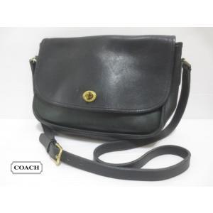 COACH/コーチ 本革 レザー ショルダー バッグ ブラック系 No 0239-123 Made in U.S.A 【OLD COACH】【CLASSIC COACH】【中古】|feeling-mellow