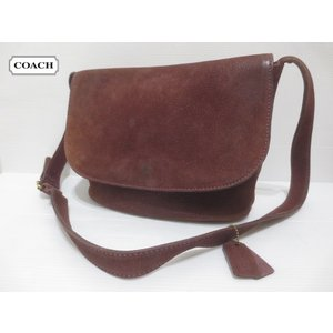 COACH/コーチ ヌバック系 しぼレザー ショルダーバッグ ブラウン系 No.E5E-4935 Made in ITALY 【COACH】【OLD COACH】【中古】|feeling-mellow