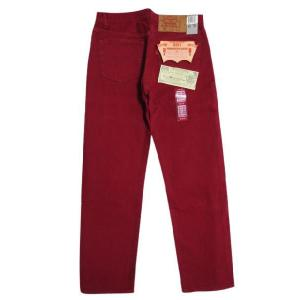 90's Deadstock Levi's/リーバイス 501 カラー デニムパンツ 赤 Made in U.S.A W31.5 L29.5  古着 mellow|feeling-mellow
