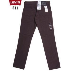 Levi's リーバイス 511 LINE 8 スリムフィット カラーパンツ エンジ系|feeling-mellow