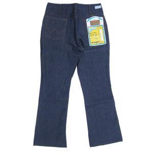Deadstock Wrangler/ラングラー 945DEN BOOT CUT デニムパンツ Made in U.S.AW31.5 L29.5ブーツカットREGULAR FITブロークンデニム 古着 mellow10P24Au|feeling-mellow