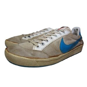 中古80年製 NIKE/ナイキ テニスシューズ 白×水色 Made in TAIWAN Women's US 11 古着 mellow|feeling-mellow